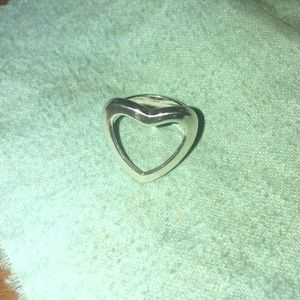 Coach Sterling Silver Heart Ring